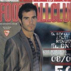 Coleccionismo deportivo: Nº 13 - FOOTBALL CLUB. REVISTA OFICIAL DEL SEVILLA FC. SEPTIEMBRE 2008.. Lote 51791208