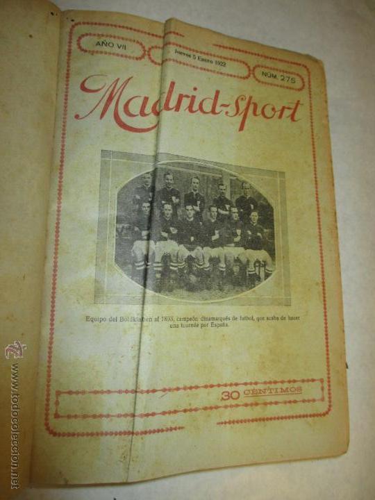 Coleccionismo deportivo: Madrid-Sport, año 1922 completo encuadernado, Real Madrid, Atletico, mucho fútbol y otros deportes - Foto 3 - 51810971