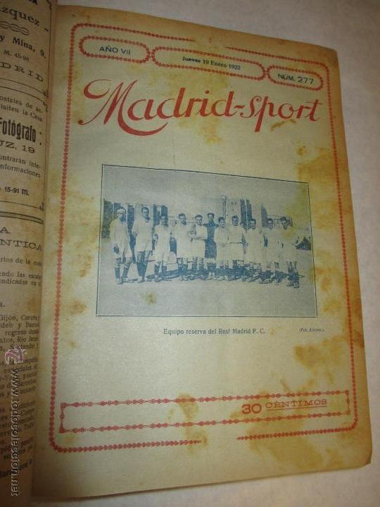 Coleccionismo deportivo: Madrid-Sport, año 1922 completo encuadernado, Real Madrid, Atletico, mucho fútbol y otros deportes - Foto 4 - 51810971