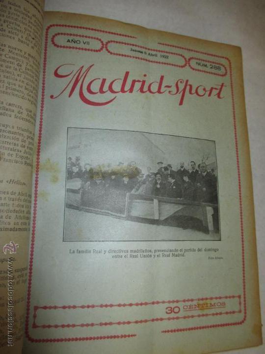 Coleccionismo deportivo: Madrid-Sport, año 1922 completo encuadernado, Real Madrid, Atletico, mucho fútbol y otros deportes - Foto 7 - 51810971
