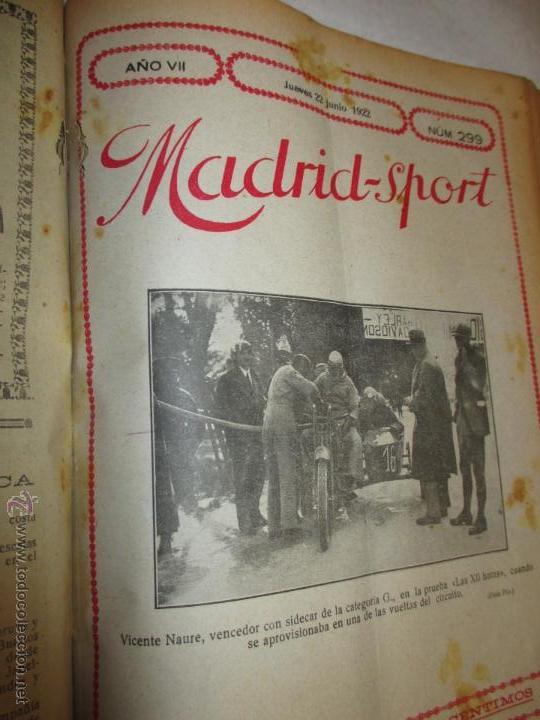 Coleccionismo deportivo: Madrid-Sport, año 1922 completo encuadernado, Real Madrid, Atletico, mucho fútbol y otros deportes - Foto 9 - 51810971