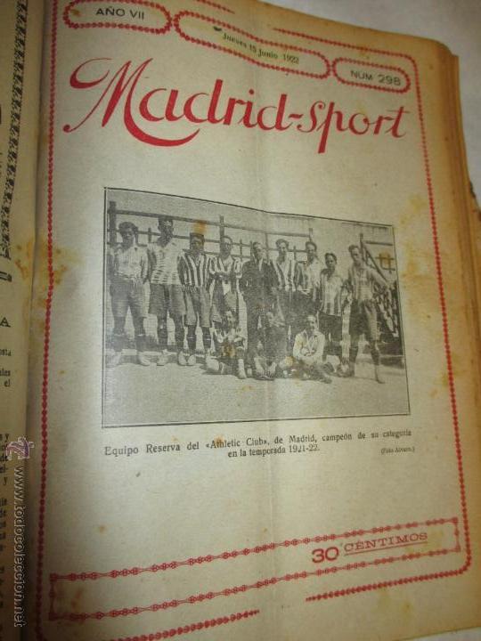 Coleccionismo deportivo: Madrid-Sport, año 1922 completo encuadernado, Real Madrid, Atletico, mucho fútbol y otros deportes - Foto 10 - 51810971