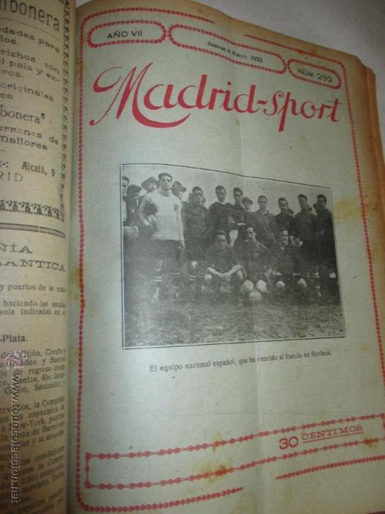 Coleccionismo deportivo: Madrid-Sport, año 1922 completo encuadernado, Real Madrid, Atletico, mucho fútbol y otros deportes - Foto 11 - 51810971