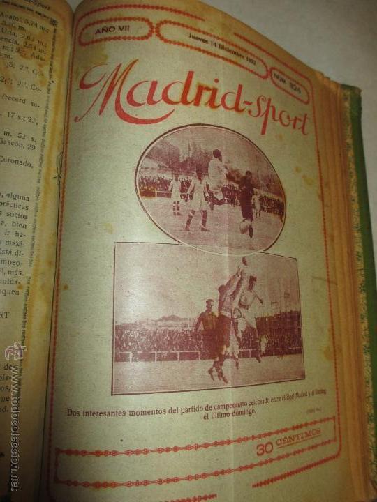 Coleccionismo deportivo: Madrid-Sport, año 1922 completo encuadernado, Real Madrid, Atletico, mucho fútbol y otros deportes - Foto 12 - 51810971