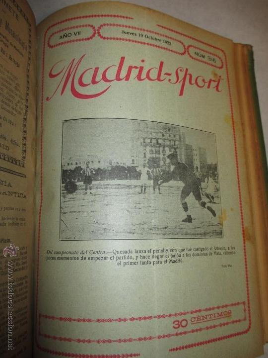 Coleccionismo deportivo: Madrid-Sport, año 1922 completo encuadernado, Real Madrid, Atletico, mucho fútbol y otros deportes - Foto 13 - 51810971