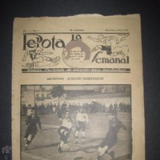 Coleccionismo deportivo: LA PELOTA SEMANAL - AÑO 1- NUM 8- 4 ENERO 1923 - (V- 3142). Lote 51924935