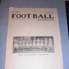 Collectionnisme sportif: REVISTA FOOT - BALL AÑO IV Nº 163 - BARCELONA 18 JULIO 1918 DIRECT.FRANCISCO BRÚ Y SANS . Lote 52160738