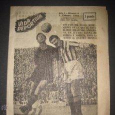 Coleccionismo deportivo: VIDA DEPORTIVA - NUMERO 2 - AÑO 1945 - SIN ABRIR - VER FOTOS - (V- 3307). Lote 52299806