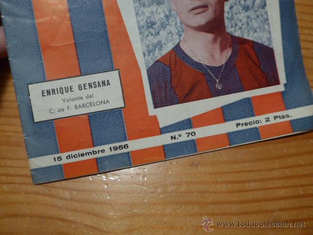 Coleccionismo deportivo: Antigua revista de Club futbol barcelona, 1956, barça - Foto 2 - 52302499