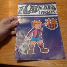 Coleccionismo deportivo: ANTIGUA REVISTA MAINADA PEQUES, INFANTIL DEL FUTBOL CLUB BARCELONA, 1972, BARÇA. Lote 52302517
