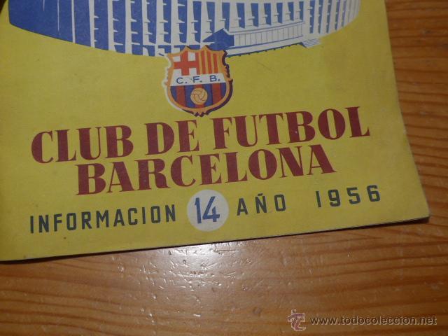 Coleccionismo deportivo: Antigua revista club futbol barcelona, 1956, barça - Foto 2 - 52302526