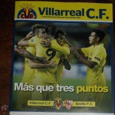 Coleccionismo deportivo: REVISTA OFICIAL VILLARREAL CF VS SEVILLA FC. 31 OCTUBRE 2015.16 PAG. 15 X 21 CM. VER FOTOS.. Lote 52459773