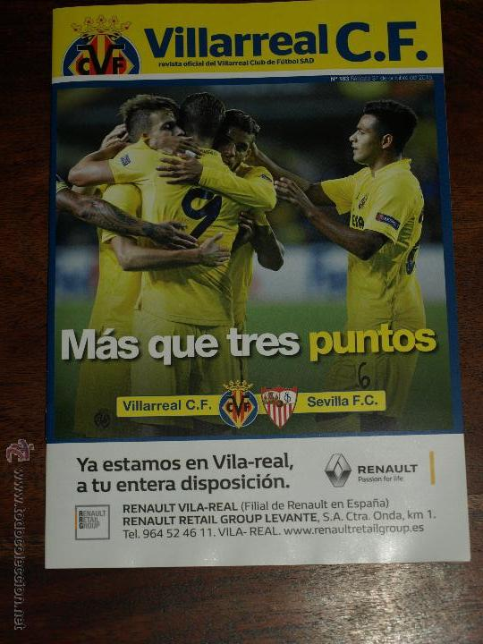 Coleccionismo deportivo: REVISTA OFICIAL VILLARREAL CF VS SEVILLA FC. 31 OCTUBRE 2015.16 PAG. 15 X 21 CM. VER FOTOS. - Foto 2 - 52459773