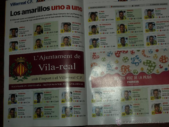 Coleccionismo deportivo: REVISTA OFICIAL VILLARREAL CF VS SEVILLA FC. 31 OCTUBRE 2015.16 PAG. 15 X 21 CM. VER FOTOS. - Foto 3 - 52459773