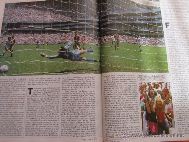 Coleccionismo deportivo: REVISTA COMPLETA TIME 30 JUNIO 1986 - MARADONA LA COPA DEL MUNDO PLATINI - INGLES - Foto 2 - 52462381