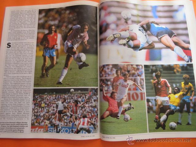 Coleccionismo deportivo: REVISTA COMPLETA TIME 30 JUNIO 1986 - MARADONA LA COPA DEL MUNDO PLATINI - INGLES - Foto 3 - 52462381