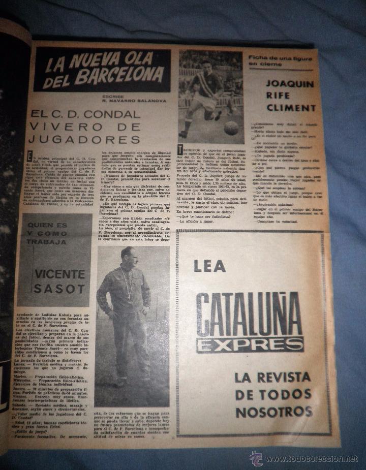 Coleccionismo deportivo: BOLETIN OFICIAL DEL C.DE F.BARCELONA - AÑOS 1962-64 - 30 NUMEROS EN UN VOLUMEN - MUY ILUSTRADOS. - Foto 3 - 52514233