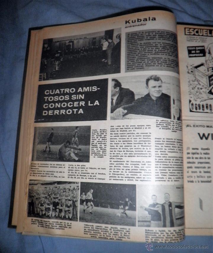 Coleccionismo deportivo: BOLETIN OFICIAL DEL C.DE F.BARCELONA - AÑOS 1962-64 - 30 NUMEROS EN UN VOLUMEN - MUY ILUSTRADOS. - Foto 4 - 52514233