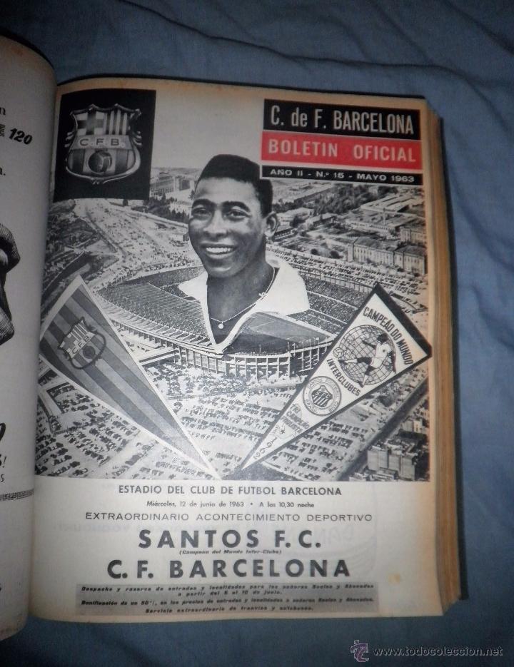 Coleccionismo deportivo: BOLETIN OFICIAL DEL C.DE F.BARCELONA - AÑOS 1962-64 - 30 NUMEROS EN UN VOLUMEN - MUY ILUSTRADOS. - Foto 14 - 52514233