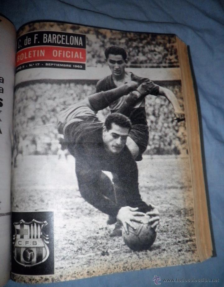 Coleccionismo deportivo: BOLETIN OFICIAL DEL C.DE F.BARCELONA - AÑOS 1962-64 - 30 NUMEROS EN UN VOLUMEN - MUY ILUSTRADOS. - Foto 16 - 52514233