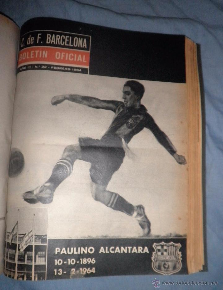 Coleccionismo deportivo: BOLETIN OFICIAL DEL C.DE F.BARCELONA - AÑOS 1962-64 - 30 NUMEROS EN UN VOLUMEN - MUY ILUSTRADOS. - Foto 17 - 52514233