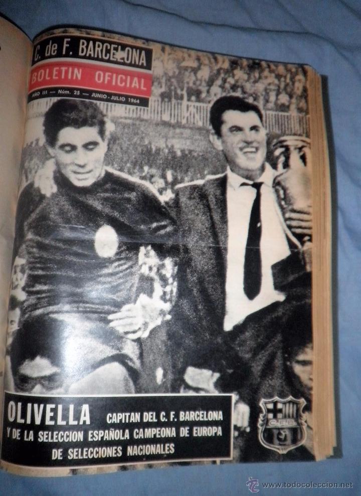 Coleccionismo deportivo: BOLETIN OFICIAL DEL C.DE F.BARCELONA - AÑOS 1962-64 - 30 NUMEROS EN UN VOLUMEN - MUY ILUSTRADOS. - Foto 18 - 52514233