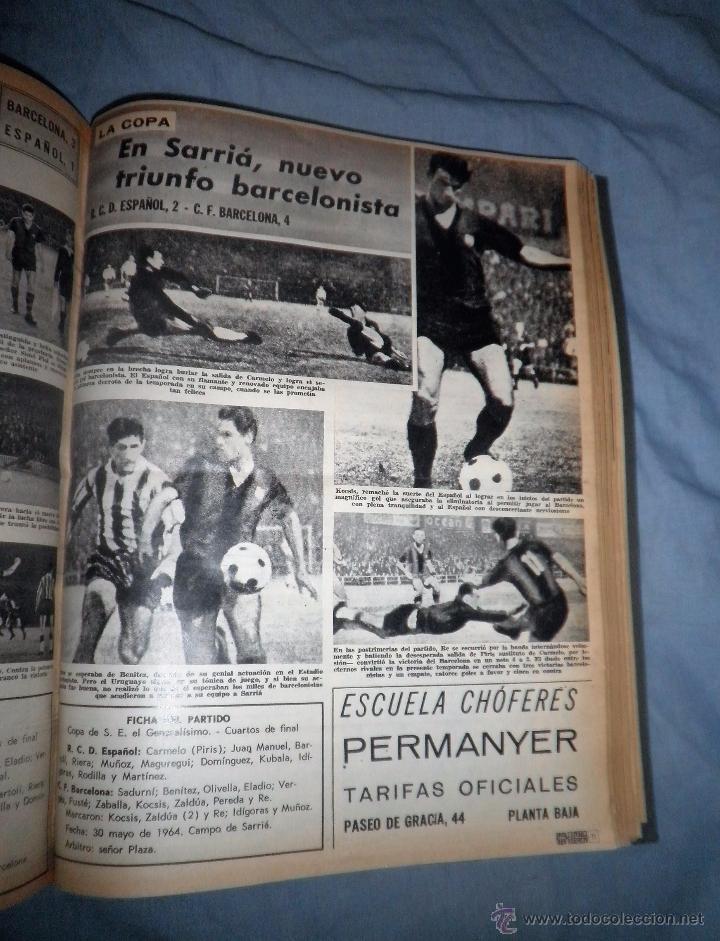 Coleccionismo deportivo: BOLETIN OFICIAL DEL C.DE F.BARCELONA - AÑOS 1962-64 - 30 NUMEROS EN UN VOLUMEN - MUY ILUSTRADOS. - Foto 19 - 52514233