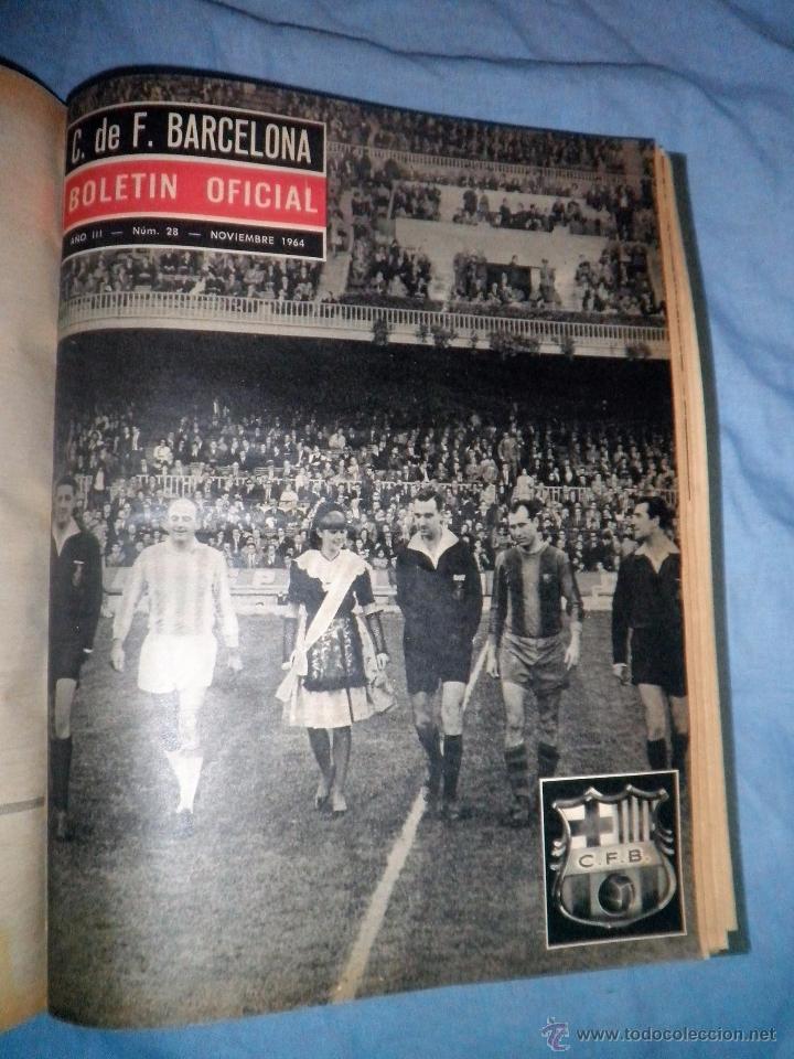Coleccionismo deportivo: BOLETIN OFICIAL DEL C.DE F.BARCELONA - AÑOS 1962-64 - 30 NUMEROS EN UN VOLUMEN - MUY ILUSTRADOS. - Foto 20 - 52514233