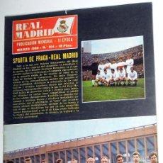 Coleccionismo deportivo: REVISTA REAL MADRID. BOLETIN INFORMATIVO.Nº214.MARZO 1968.SPARTA DE PRAGA COPA EUROPA FUTBOL VINTAGE. Lote 52825562