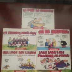Coleccionismo deportivo: 5 LIBROS DE VIÑETAS DEL DIBUJANTE OSCAR EL PERIDODICO DE CATALUÑA .AÑO 1990 F.C.BARCELONA BARÇA. Lote 52909603