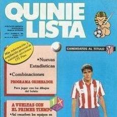 Coleccionismo deportivo: QUINIELISTA. Nº 97. LIGA 1986 - 1987. 86 - 87. CON PÓSTER DEL ATLÉTICO DE MADRID. VER FOTO.. Lote 53024704
