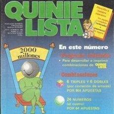 Coleccionismo deportivo: QUINIELISTA. Nº 99. LIGA 1986 - 1987. 86 - 87. CON PÓSTER DEL REAL ZARAGOZA. VER FOTO.. Lote 53024862