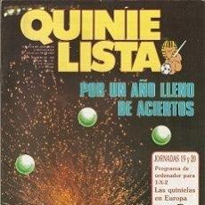 Coleccionismo deportivo: QUINIELISTA. Nº 103. LIGA 1986 - 1987. CON PÓSTER DE LA UNIÓN DEPORTIVA LAS PALMAS. VER FOTO.. Lote 53024942