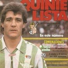 Coleccionismo deportivo: QUINIELISTA. Nº 106. LIGA 1986 - 1987. 86 - 87. CON PÓSTER DEL REAL BETIS BALOMPIÉ. VER FOTO.. Lote 53024992
