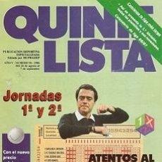 Coleccionismo deportivo: QUINIELISTA. Nº 94. LIGA 1986 - 1987. CON PÓSTER DEL CALENDARIO DE LIGA DE 1ª DIVISIÓN. VER FOTO.. Lote 53025054