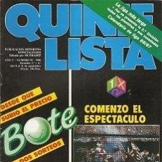 Coleccionismo deportivo: QUINIELISTA. Nº 95. LIGA 1986 - 1987. CON PÓSTER DEL CALENDARIO DE LIGA DE 2ª DIVISIÓN. VER FOTO.. Lote 53025071
