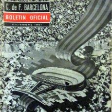 Coleccionismo deportivo: BOLETIN OFICIAL F.C. BARCELONA 10 REVISTAS INCLUYE Nº 1 1961. Lote 53290403