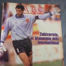 Coleccionismo deportivo: ABC Nº21-F.C.BARCELONA-ZUBIZARRETA,BARÇA,LADISLAO KUBALA,HUGO CHOLO SOTIL-FOTOS. Lote 53371237