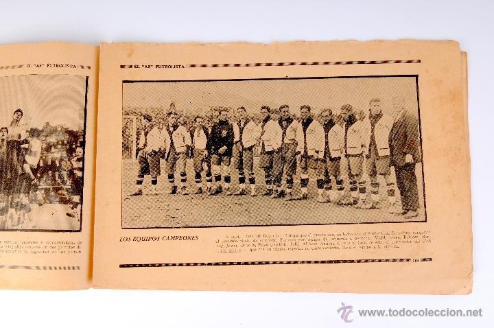 Coleccionismo deportivo: EL AS FUTBOLISTA FOLLETO ENCUADERNABLE DE FOTOGRAFIAS DE FUTBOL Nº12 AGUSTIN SANCHO - Foto 2 - 53371303