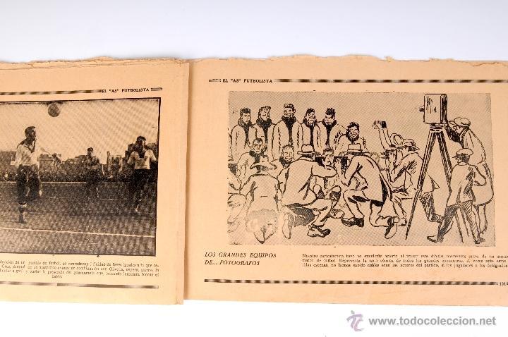 Coleccionismo deportivo: EL AS FUTBOLISTA FOLLETO ENCUADERNABLE DE FOTOGRAFIAS DE FUTBOL Nº12 AGUSTIN SANCHO - Foto 3 - 53371303