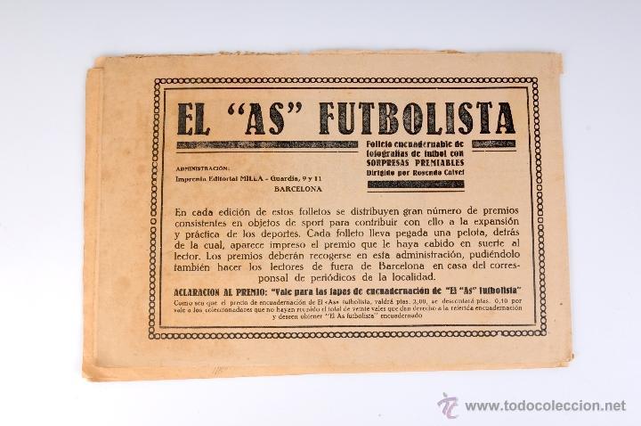 Coleccionismo deportivo: EL AS FUTBOLISTA FOLLETO ENCUADERNABLE DE FOTOGRAFIAS DE FUTBOL Nº12 AGUSTIN SANCHO - Foto 4 - 53371303