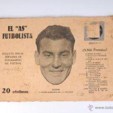 EL AS FUTBOLISTA FOLLETO ENCUADERNABLE DE FOTOGRAFIAS DE FUTBOL Nº11 PLATKO