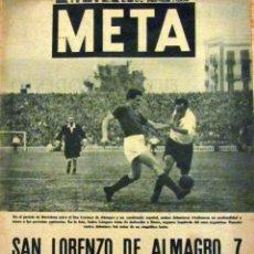 Coleccionismo deportivo: DIARIO META ENERO 1947 FUTBOL SAN LORENZO DE ALMAGRO 7 COMBINADO ESPAÑOL 5 C.D. SABADELL. Lote 57896577