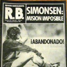 Coleccionismo deportivo: REVISTA BARCELONISTA SIMONSEN F.C. BARCELONA REAL SOCIEDAD ARCONADA ROBERTO DINAMITA 1980. Lote 53423789