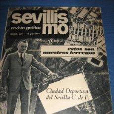 Coleccionismo deportivo: SEVILLISMO REVISTA GRÁFICA SEVILLA C.F. - ABRIL 1971 - AUNQUE NO FIGURA NUMERO CORRESPONDE AL Nº 1. Lote 53426966