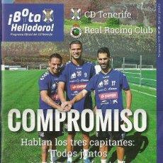 Coleccionismo deportivo: CD TENERIFE-REAL RACING CLUB DE SANTANDER.7/12/2014.Nº 48.¡BOTA HELIODORO!16 PÁG.. Lote 53656099