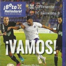 Coleccionismo deportivo: CD TENERIFE-FC BARCELONA B.26/10/2014.Nº 45.¡BOTA HELIODORO!16 PÁG.PÓSTER DIEGO IFRÁN.. Lote 53656287