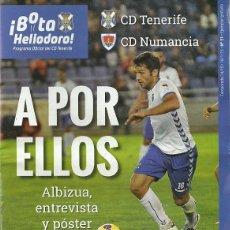 Coleccionismo deportivo: CD TENERIFE-CD NUMANCIA.18/1/2015.Nº 51.¡BOTA HELIODORO!.PÓSTER DE ALBIZUA.16 PÁGINAS.. Lote 53657826