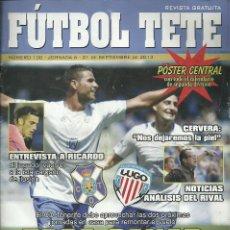 Coleccionismo deportivo: CD LUGO.FUTBOL TETE.Nº 100.21/9/2013.CD TENERIFE.16 PÁG.. Lote 53673031