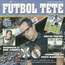 Coleccionismo deportivo: REAL MADRID CASTILLA.FUTBOL TETE.Nª 101.29/9/2013.CD TENERIFE.PÓSTER CENTRAL DE ARIDANE.16 PÁG.. Lote 53673077
